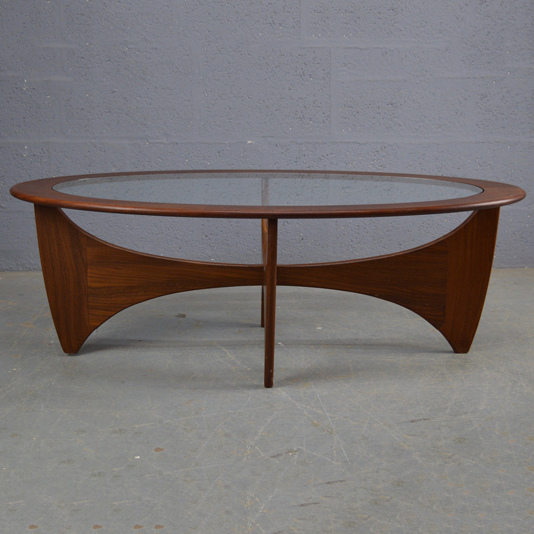 Astro Coffee Table.Mid Century Oval Teak Astro Coffee Table By G Plan