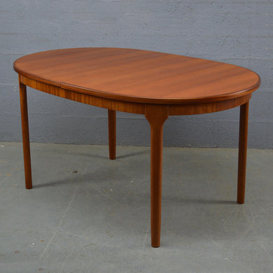 Mid Century Oval Dinning Table By Mc Intosh