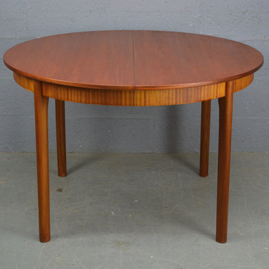 Mid Century Vintage 1970s Round Dinning Table by Mcintosh