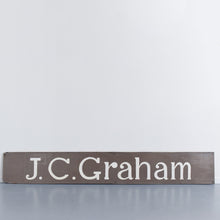Load image into Gallery viewer, Vintage 1950s Large Hand Painted Wooden Shop Sign J.C.Graham