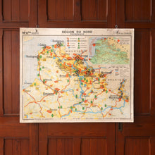 Load image into Gallery viewer, Double Sided Vintage Map of Northern France