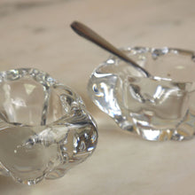 Load image into Gallery viewer, Vintage Pair Of French Daum Crystal Salts Cellars