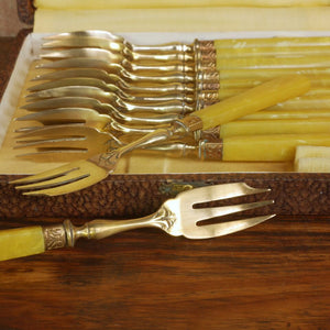 Vintage French Dessert Fork Set