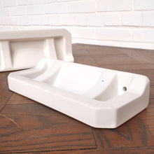 Load image into Gallery viewer, Vintage French Moulded Ceramic Bathroom Shelves