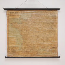 Load image into Gallery viewer, Antique Hanging French Wall Map