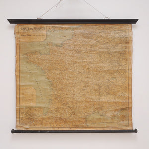 Antique Hanging French Wall Map