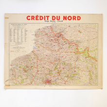 Load image into Gallery viewer, Vintage French Map - Credit de Nord