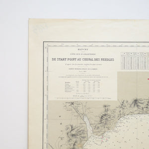 Vintage Nautical Chart - Entrance to the Needles Channel
