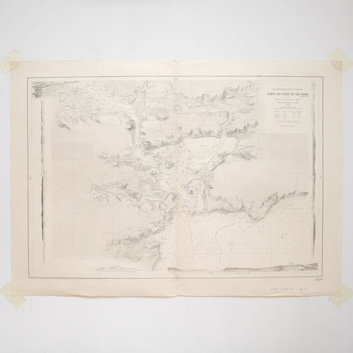 Vintage Nautical Chart - Ports of Cork and Cobh