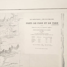 Load image into Gallery viewer, Vintage Nautical Chart - Ports of Cork and Cobh