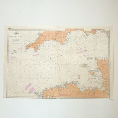 Vintage Nautical Chart - The Channel
