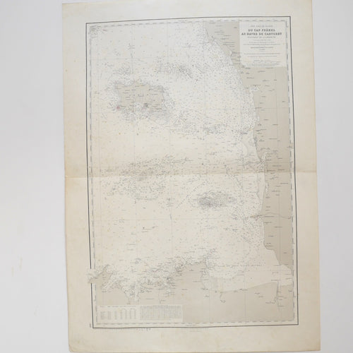 Vintage Nautical Chart - Cap Fréhel to Carteret Harbour