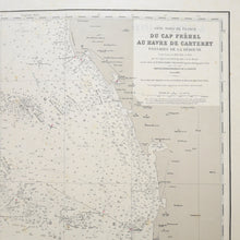 Load image into Gallery viewer, Vintage Nautical Chart - Cap Fréhel to Carteret Harbour