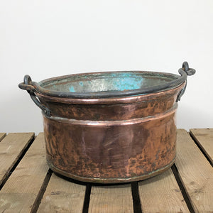 Large Copper Cauldron Pot - 1