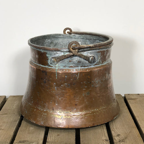 Large Copper Cauldron Pot - 2