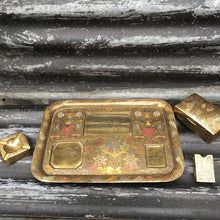 Load image into Gallery viewer, Mid Century Desk Top Brass Tray & Accessories