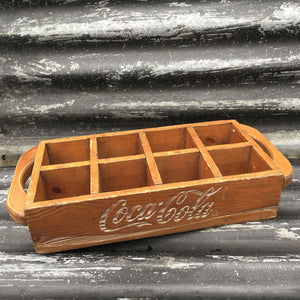 Wooden Cola / Schweppes Bottle Tray