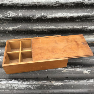 Wooden Storage Box Sliding Lid