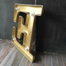 Load image into Gallery viewer, 1970s Retro Gold Plastic Letter - E