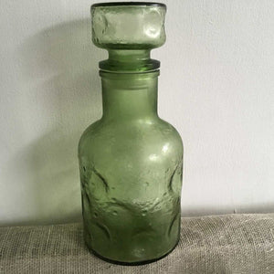 Retro Green Belgian Decanter
