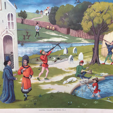 Load image into Gallery viewer, 1950s School Chart - #52 - Shooting, Fowling & Fishing C15th