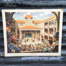Load image into Gallery viewer, 1950s School Chart - #73 - An Elizabethan Theatre