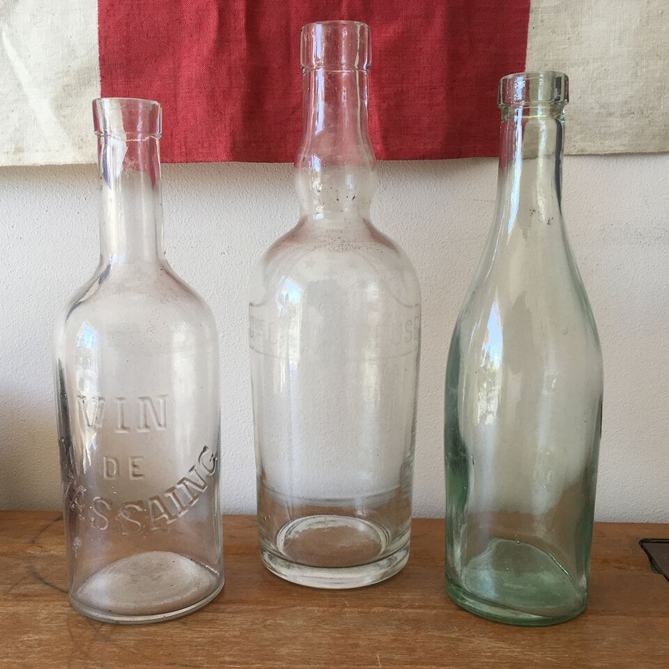 Trio of French Wine Bottles
