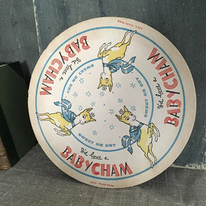Large Babycham Coaster - B