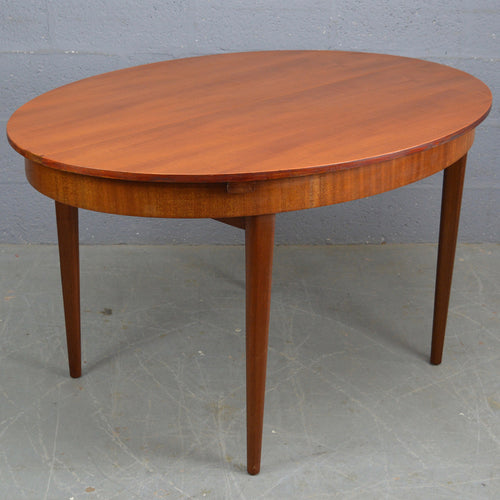 Vintage Mid Century Teak Oval Dinning Table