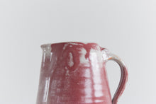 Load image into Gallery viewer, Vintage Pair of Small Burgundy and Grey Stoneware Pottery Jugs