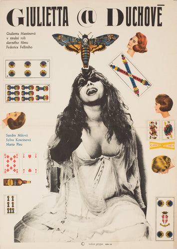 Juliet of the Spirit 1969 Czech Film Poster