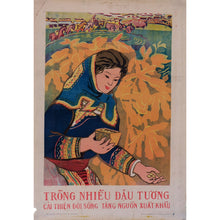 Load image into Gallery viewer, 1970s ORIGINAL Vietnamese Poster - Soy Beans