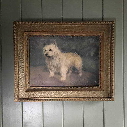 West Highland Terrier oil painting