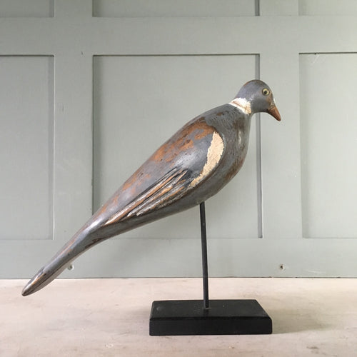Vintage wood pigeon decoy - Harry Turvey