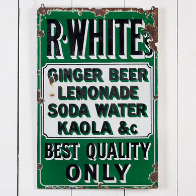 Early R Whites Soft Drinks Enamel Sign
