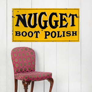 Lovely, Early, Nugget Boot Polish Enamel Sign