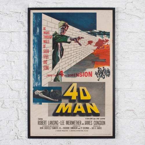 Original 1959 Us One-sheet Film Poster For 4D Man