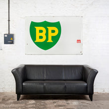 Load image into Gallery viewer, Very Large Vintage BP Highway Marker Enamel Sign