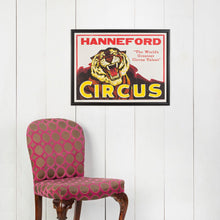 Load image into Gallery viewer, Large Framed American Circus Poster - Tiger - Hanneford