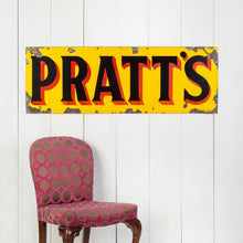 Load image into Gallery viewer, Large Vibrant Pratt's Enamel Banner Sign