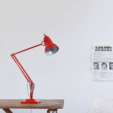 Vintage Red Herbert Terry & Sons Anglepoise Lamp Model No. 1227