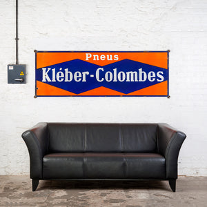 Large Vintage Enamel Kleber-Colombes Tyres Sign