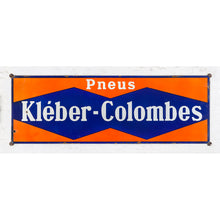Load image into Gallery viewer, Large Vintage Enamel Kleber-Colombes Tyres Sign