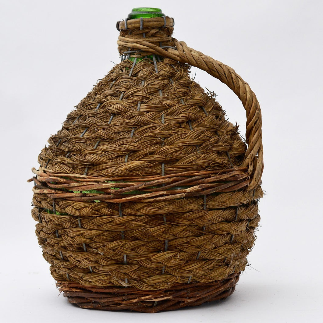 Large Vintage Wicker Jar