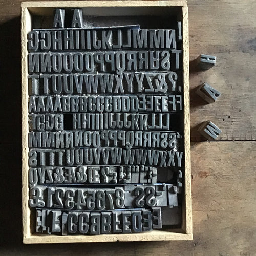 Vintage Letterpress Letter Blocks