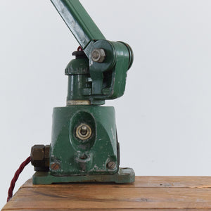 Vintage EDL Green Workbench Task Lamp with 3 Arms