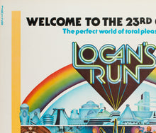 Load image into Gallery viewer, Logan's Run 1976 US Half Sheet Film Poster - detail 1