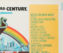 Load image into Gallery viewer, Logan's Run 1976 US Half Sheet Film Poster - detail 2