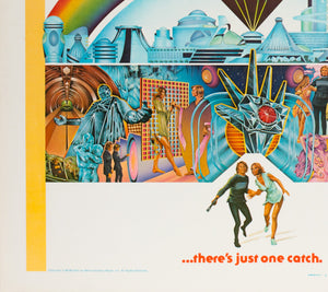 Logan's Run 1976 US Half Sheet Film Poster - detail 3
