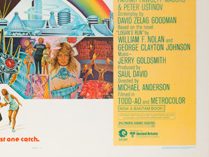 Logan's Run 1976 US Half Sheet Film Poster - detail 4